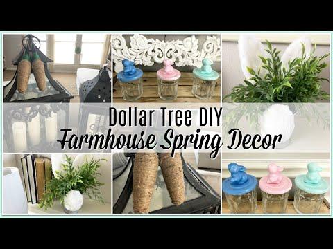 DOLLAR TREE DIY FARMHOUSE SPRING DECOR   2019