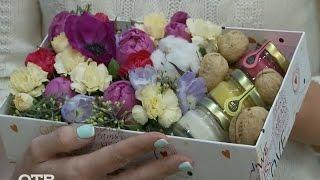 Делаем цветочную композицию в коробке(Композицию из цветов в коробке может собрать любой желающий — достаточно сходить в цветочный магазин...., 2017-01-11T11:25:44.000Z)
