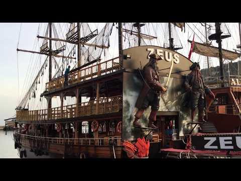 23.4.2018 all pirates boats at Alanya docks