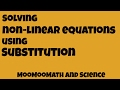 Solving non-linear system equations using substitution