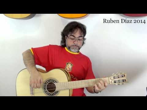 "Fitness 29 ""Picado"" Exercise & Tool Scales Pattern (L H M) Flamenco Guitar CFG Malaga Ruben Diaz"
