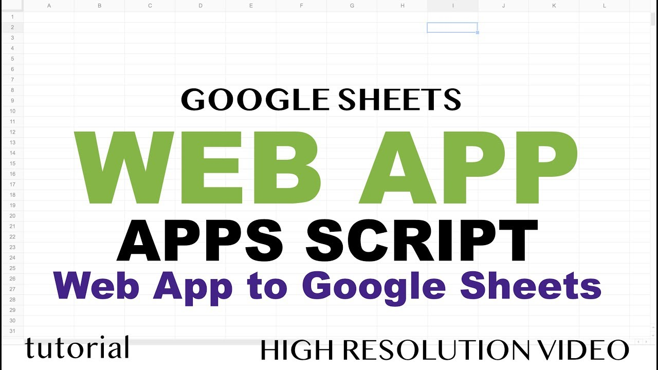 Google Sheets Web App Example