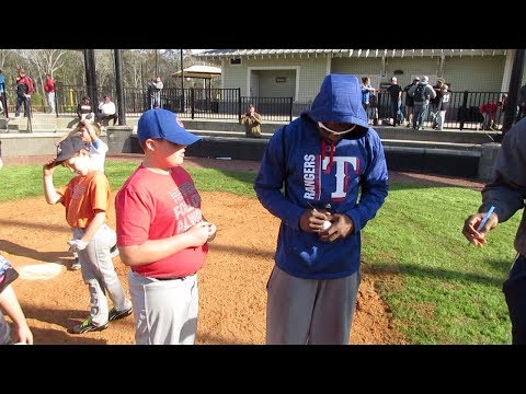Youth baseball camp and training