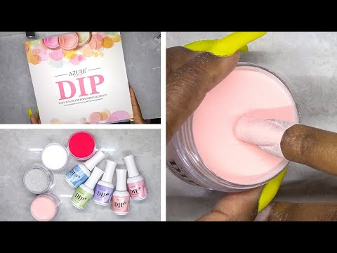 DIY Testing Dip Powder Nail Kit from Amazon Prime - Azure Beauty