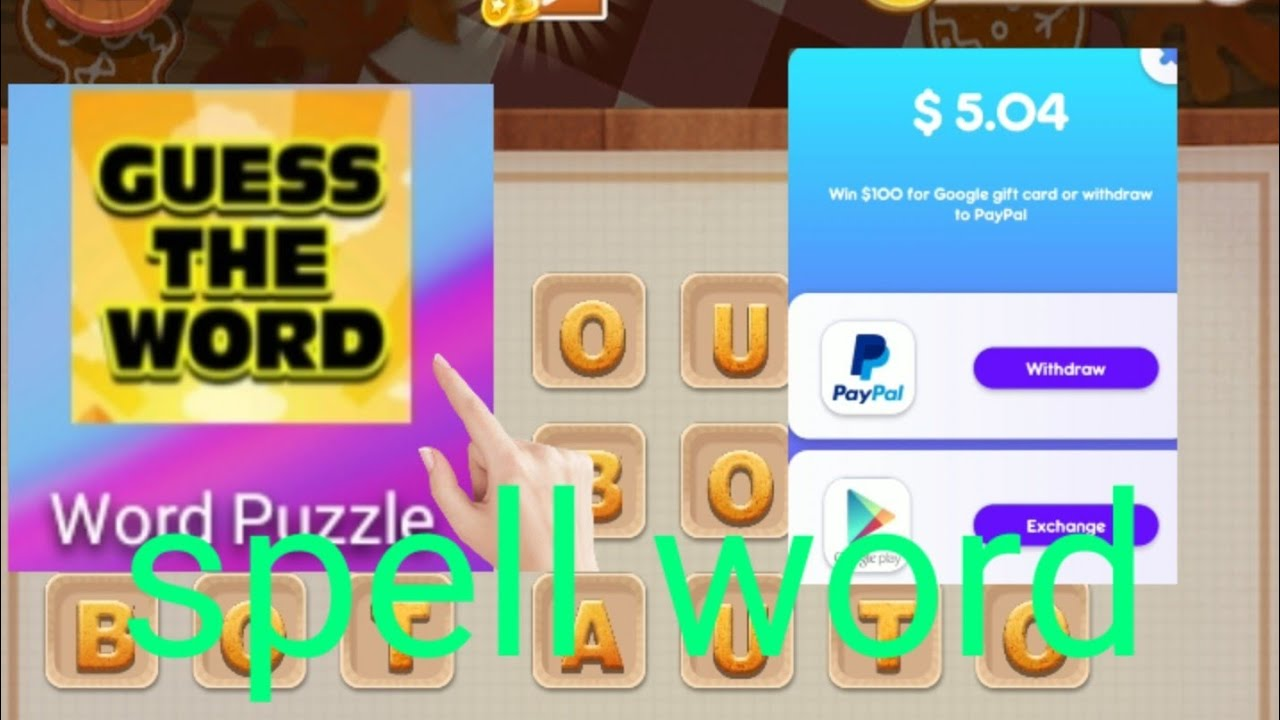 spell word to earn money easy