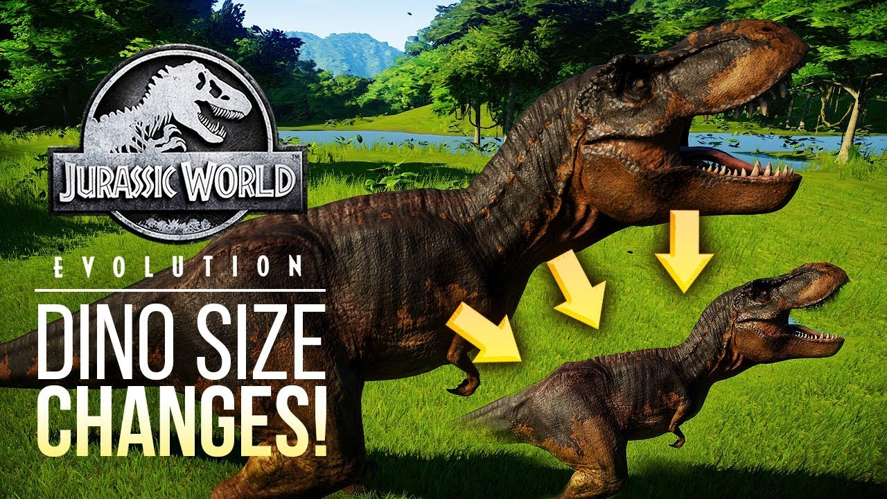 DINOSAUR SIZE CHANGES COMING! | Jurassic World: Evolution Patch News