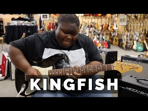 "Christone ""KINGFISH"" Ingram playing a 1989 Fender Stratocaster | Norman's Rare Guitars"