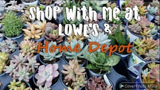 Shop with me at Lowe's and Home Depot | November 2018