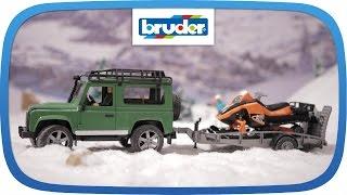 Land Rover mit Snowmobil und Anhänger -- 02594 -- BRUDER Spielwaren