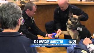 The First K-9 Joins South Londonderry Township Police