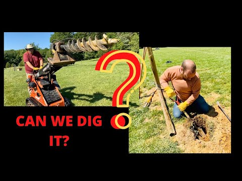 BEST WAY TO DIG HOLES IN HARD GROUND! HOBBY FARM TOOLS!