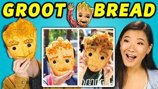 TEENS EAT BABY GROOT BREAD FROM DISNEYLAND! | Teens Vs. Food