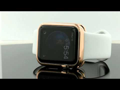 100% authentic 3d2f2 f487b Apple Watch Rose Gold slip on cover Case 42mm - YouTube