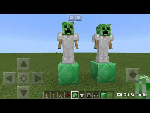 Танцующие стойки для брони в Minecraft PE ( без модов и команд)