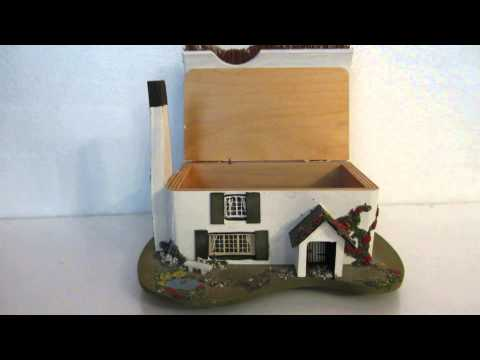 Wooden Trinket Music Box Plays English Country Garden