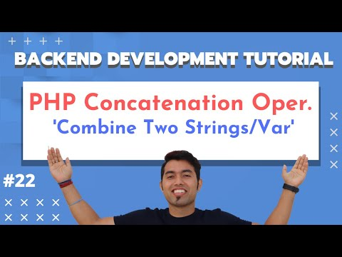 PHP Concatenation Operators | PHP Concatenate String And Variable | PHP Tutorial In Hindi 2020