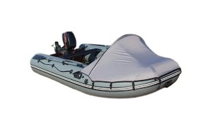Обзор ходового тента для надувной ПВХ лодки. Попробуем разобраться в полезности?