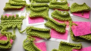 Loom Knit Cast On Overview with swatches