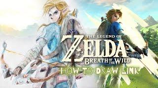 zelda breath wild link draw legend easy step