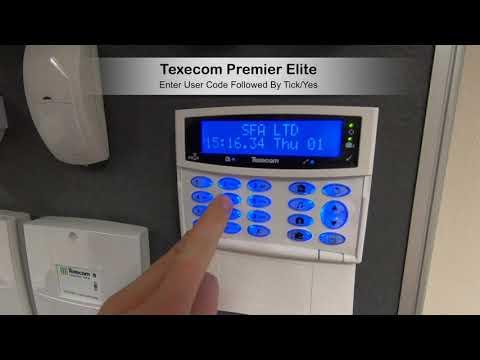 Texecom Premier Elite Unset