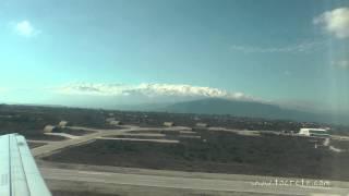 Взлёт из аэропорта Ханья (Taking off from the airport of Chania)(Зима 2014 - 2015 на Крите выдалась необычно суровой - были и сильные шторма, и проливные дожди и сильные снегопад..., 2015-03-06T21:25:19.000Z)