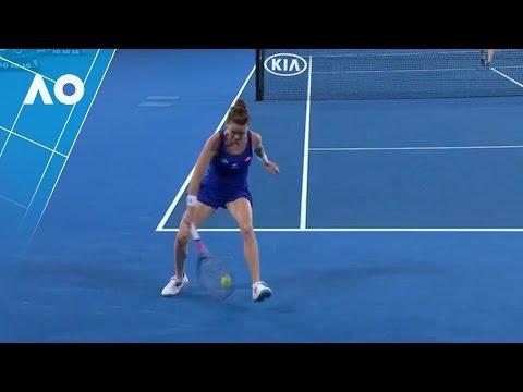 Aga Radwanska's spectacular tweener (1R) | Australian Open 2017