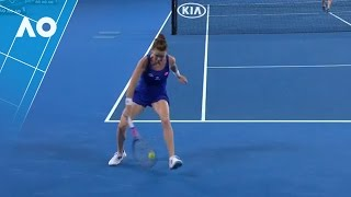 Aga Radwanskas spectacular tweener 1R  Australian Open 2017