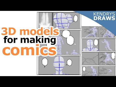 Clip studio paint - How to use 3d models for making comics