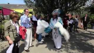 Dancing with a Mardi Gras Indian Tribe in New Orleans