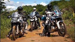 F850GS vs Africa Twin vs Tiger 800 | OFF-ROAD Review - 2018 MY Comparison - Part II