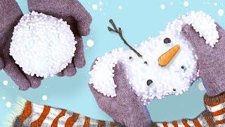 DIY FLUFFY SNOW SLIME!! - How to make SNOW slime ❄️🎅🏻
