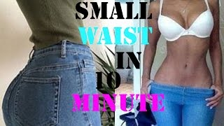 how to get a smaller waist fast|10  minutes abs exercises to shrink waist|workout for a slim waist thumbnail