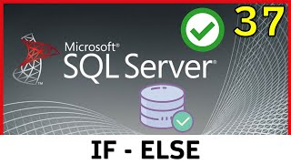 Curso SQL Server - 37. Estructura IF - ELSE (Transact SQL) | UskoKruM2010