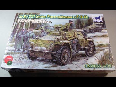 Обзор на Sd.Kfz. 221 Leichter Panzerspähwagen (s.Pz.B.41) от Bronco