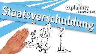 Staatsverschuldung einfach erklärt (explainity® Erklärvideo)