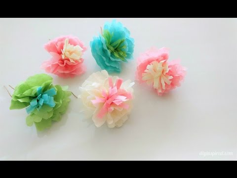 How to make mini tissue paper flowers youtube how to make mini tissue paper flowers mightylinksfo
