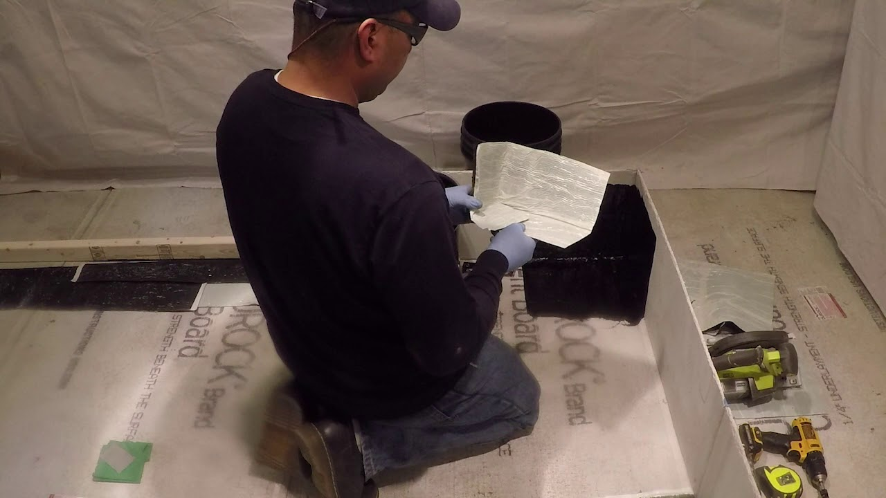 Laurenco Waterproofing Corner Installation