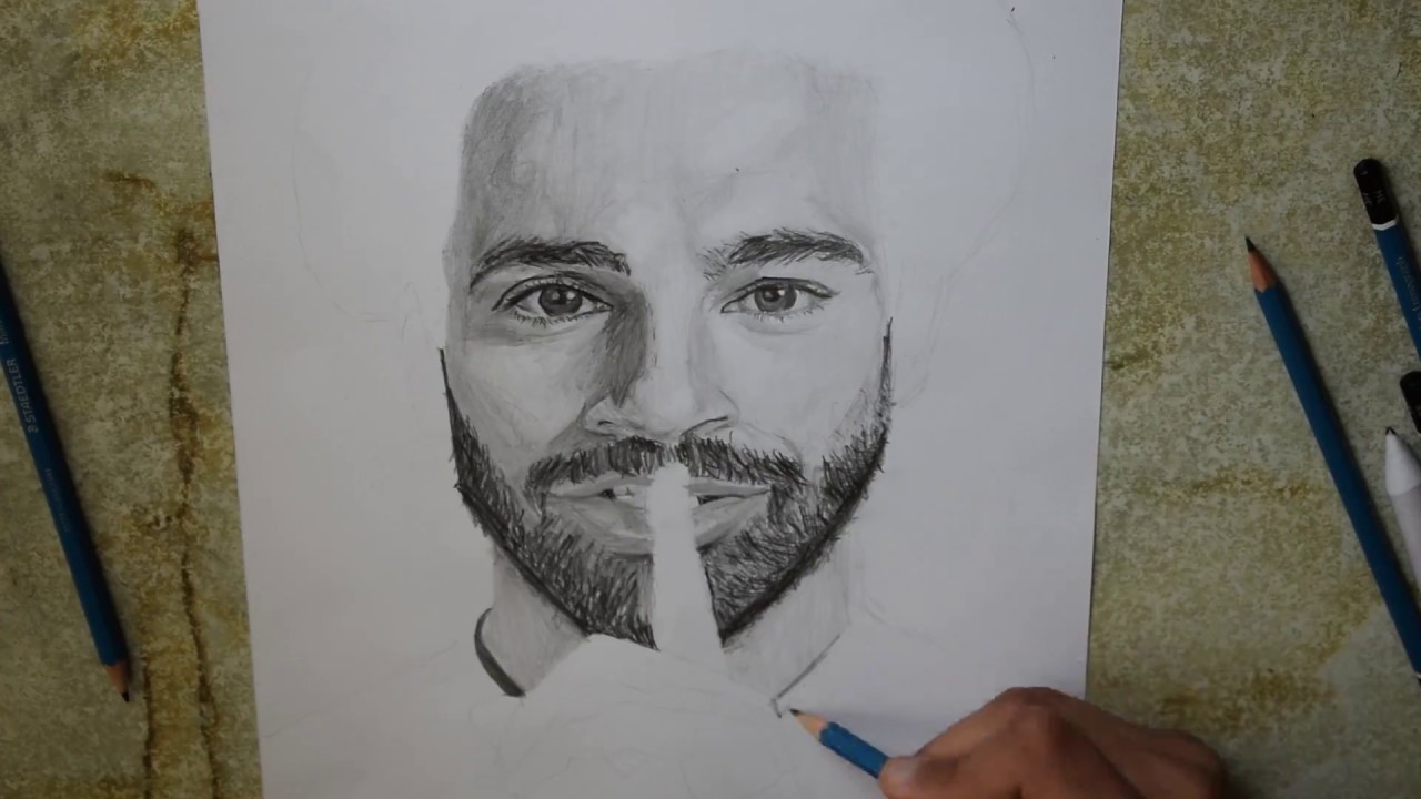 Speed Drawing Mohamed Salah رسم محمد صلاح 2018 Youtube