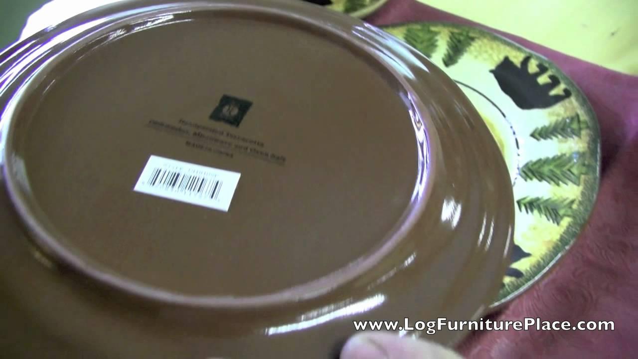 Black Bear Stoneware 16 piece Dinnerware Set & Black Bear Stoneware 16 piece Dinnerware Set - YouTube
