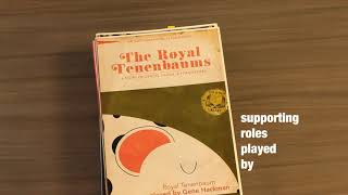 The Royal Tenenbaums Unofficial Title Sequence By Kimberly Lavon