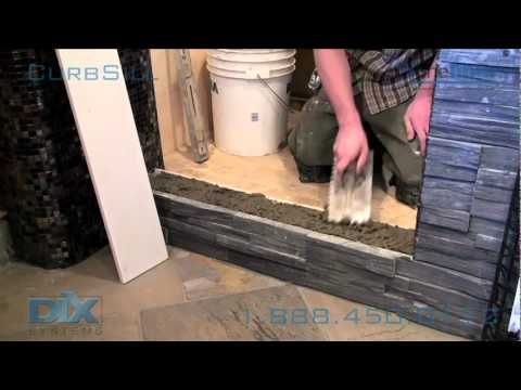 Shower Curb Sill Install. Dix Systems OneLiner How-To ...