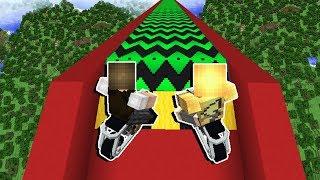 Minecraft: DESCEMOS DE MOTO A MAIOR RAMPA DO MUNDO!