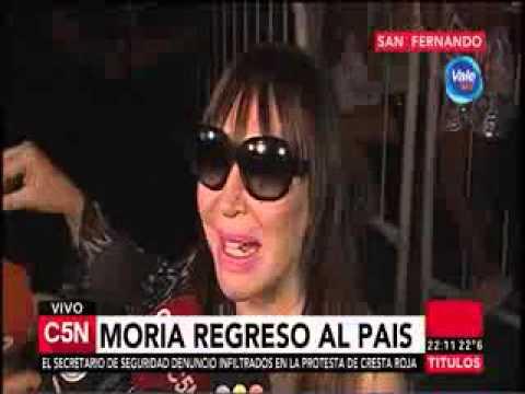 Moria Casán llegó a la Argentina