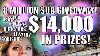 WIN $14,000 IN PRIZES! - 8 MILLION SUB GIVEAWAY! | GRAV3YARDGIRL