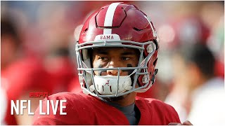 Tua Tagovailoa goes No. 5 to the Dolphins in the NFL Nation Mock Draft | NFL Live