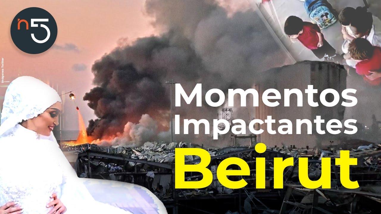 Momentos Más Impactantes de la Explosión en Beirut | En5.mx