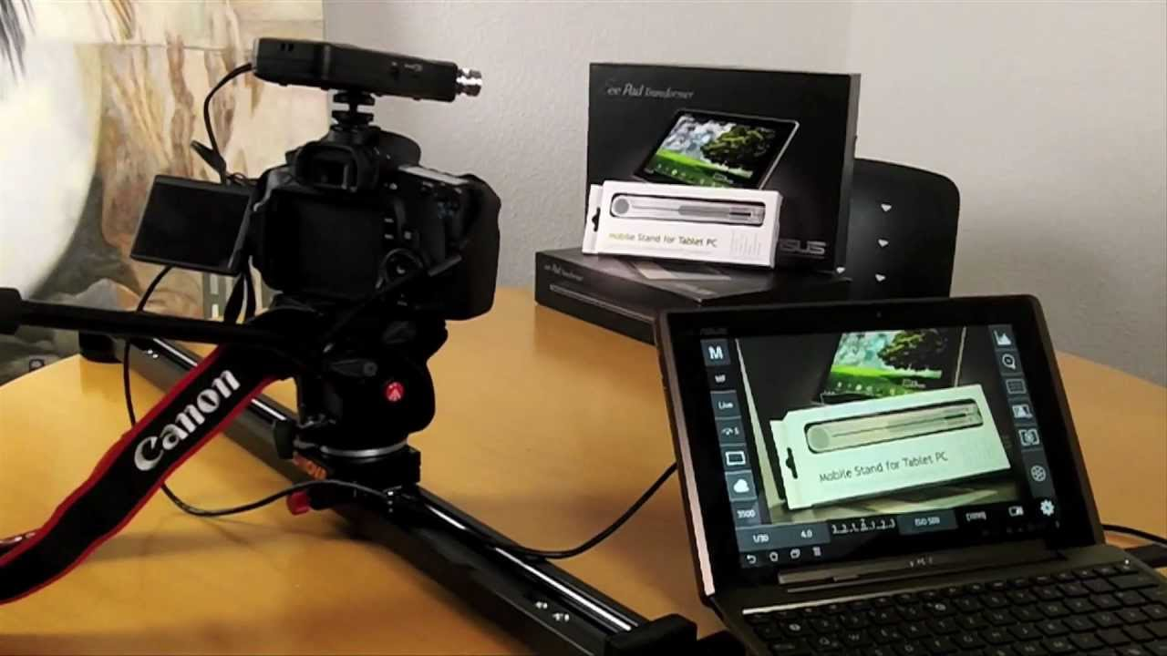 Dslr Controller App On Android Tablet For Canon Eos