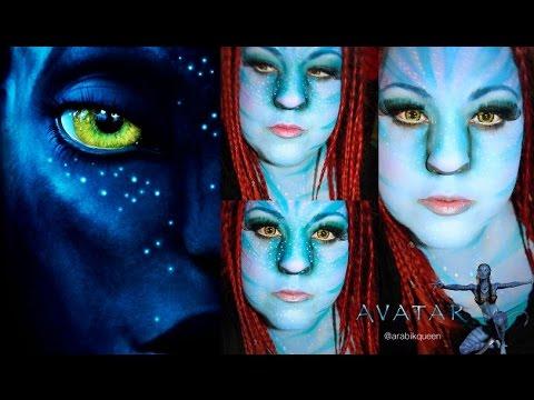 Neytiri \' * Avatar Halloween Makeup Tutorial - YouTube