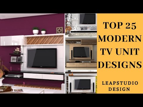 Latest Modern 25 TV unit designs for Living Room | Modern TV Wall | Leap Studio Design