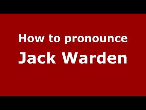 How to pronounce Jack Warden (American English/US)  - PronounceNames.com